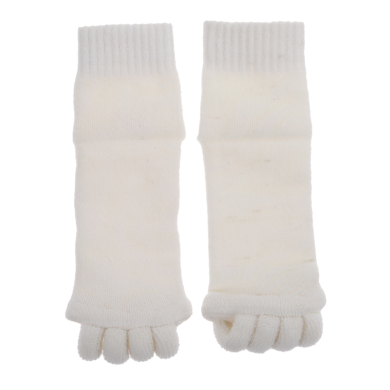 T2N2 Fashion 1 Pair Yoga GYM Massage Five Toe Separator Socks Foot Alignment Pain Relief(China (Mainland))