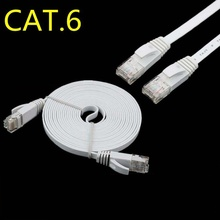 0.3m 1.5ft 1m 3ft 6FT 2M 3m 10ft 5m 15ft 8m 25ft 30ft 10m 15m 20m 30m CAT6 Flat UTP Ethernet Network Cable RJ45 Patch LAN cable