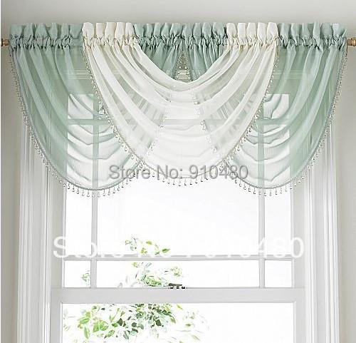 Luxury bead sheer curtain valance waterfall curtain - Como hacer un bando para cortinas ...