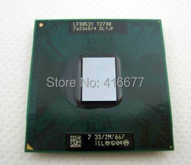 T2700 CPU laptop Core Duo T2700 2M 2.33GHz 667MHz T2700 CPU PPGA478 support 945 chipset Notebook Original disassemble Processor(China (Mainland))