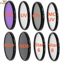 6 8 Star ND4 ND8 FLD UV CPL MC UV  lens color filter for Sony Canon Nikon D3000 D3100 D3200 D5000 D5100 D5300 D3300 D7000 D7100