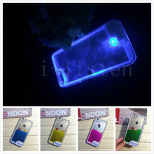 Fish swim in the water Sense Flash light Case Cover for Apple iPhone 6 4.7 luminous liquid dynamic mobile phone protective cover