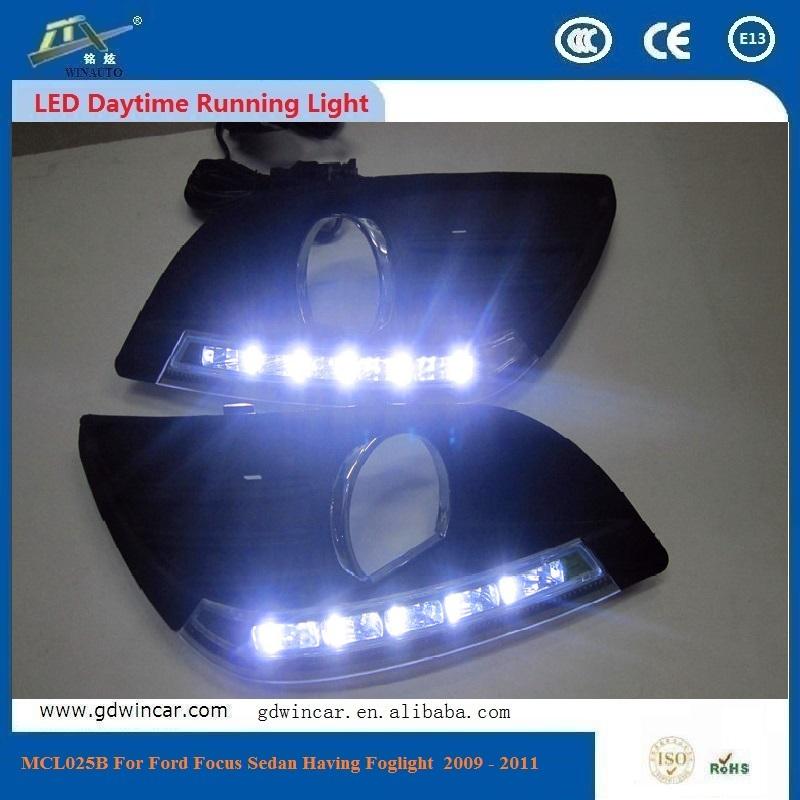 2016 Competitive Price High Power 12V 0.5W 6000K DRL Lights LED Daytime For Ford Focus Sedan Having Foglight 2009 - 2011(China (Mainland))