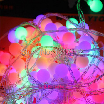 5M led string lights with 50led ball AC220V holiday decoration lamp Festival Christmas lights outdoor lighting(China (Mainland))