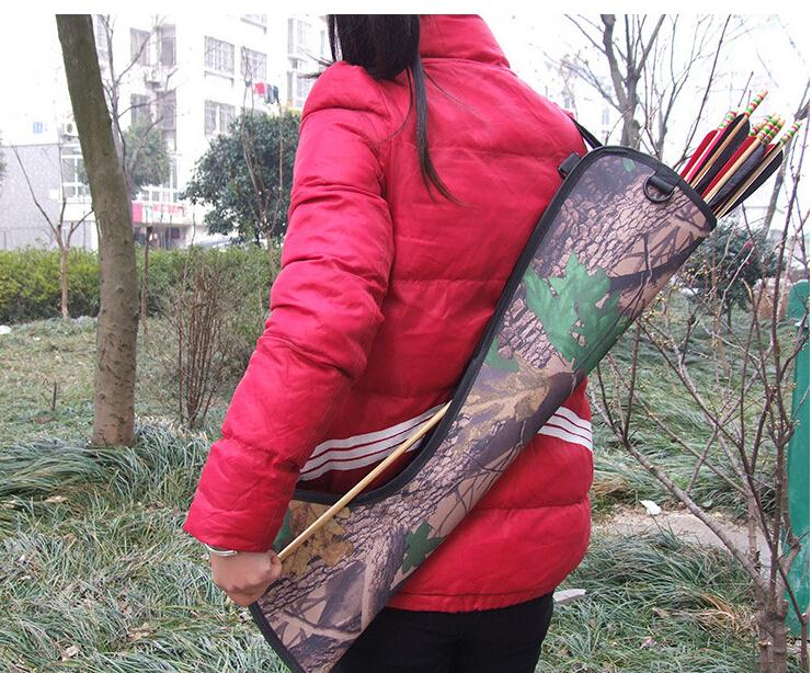 Messenger style Waterproof Bundled Quiver Camouflage Bionic Camo Bow Bag Pouch Arrow Quiver Archery Supplies Hunting