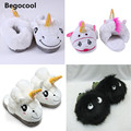2017 New Winter Indoor Slippers Plush Home Shoes Unicorn Slippers for Grown Ups Unisex Warm Home