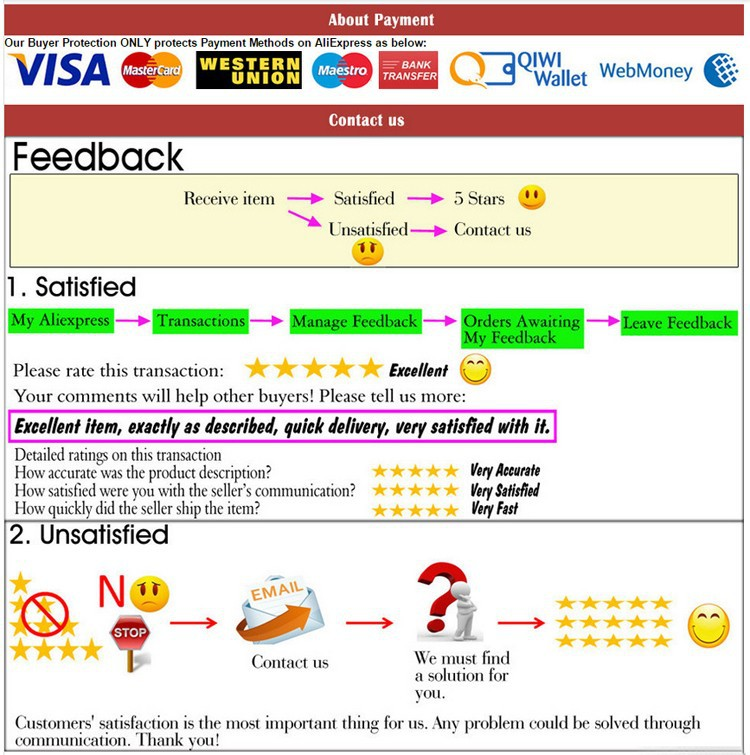 payment,feedback