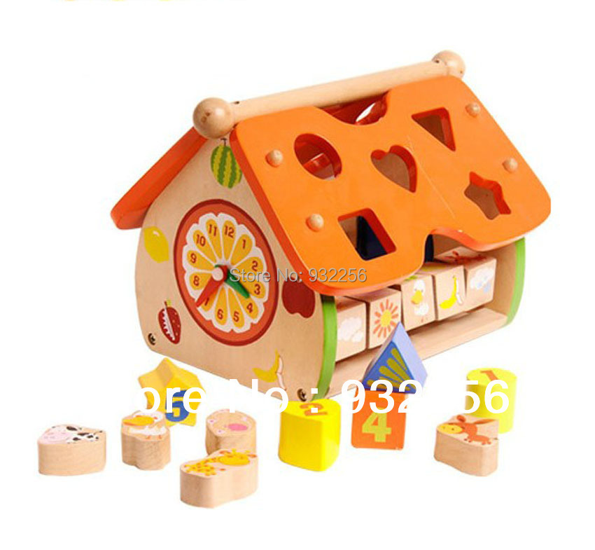 Educational Toys Brands : Free shipping brand new building blocks wooden
