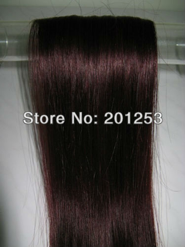 24 Colors Optional 20 100% Indian Remy Human Hair Clip in/on Hair Extenisons,70g/set 7pcs/set, #99J 1set/lot ,Free Shipping<br><br>Aliexpress