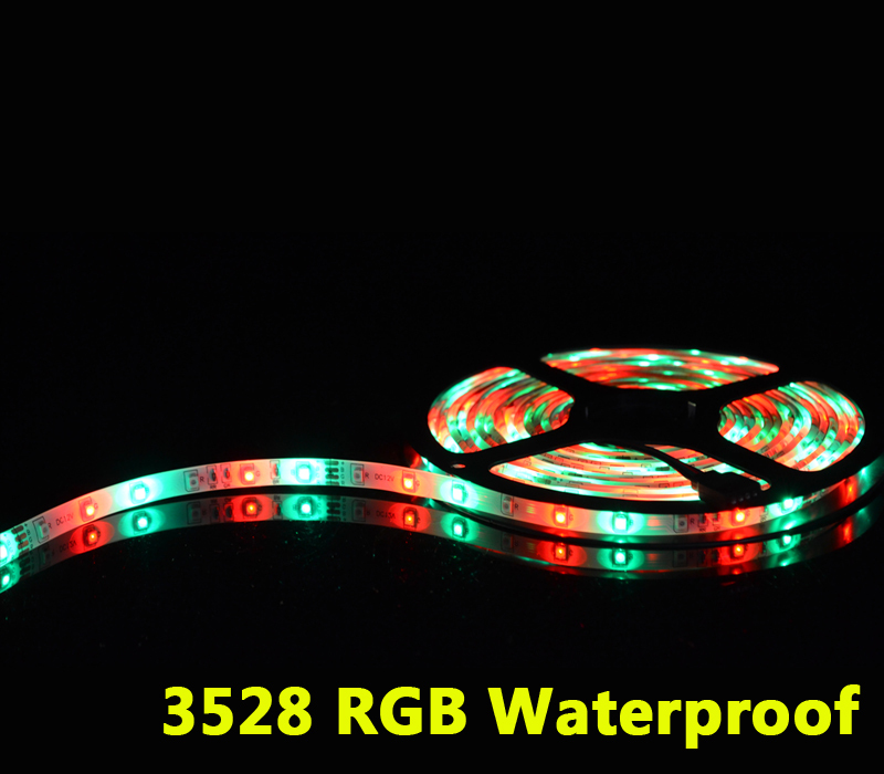 LED Strip 3528 Waterproof RGB 3528 5M Outdoor 60 Leds/M Tape LED Flexible Christmas Garland Holiday Outdoor Led stripes Light(China (Mainland))