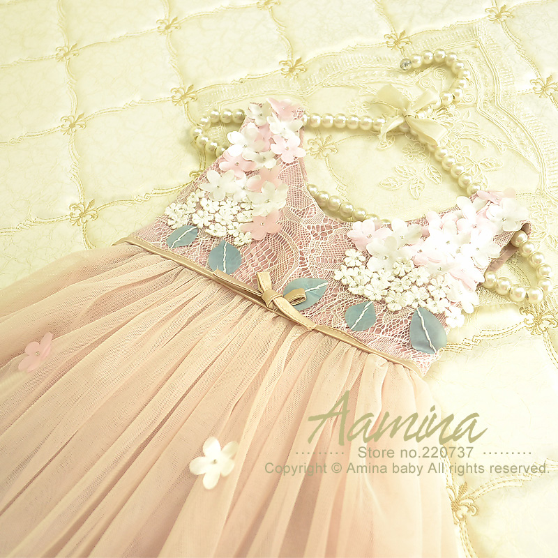[Aamina] Girls brand dress, baby girl flower dress,wholesale baby boutique clothing 6 pcs/lot--6p3486502<br><br>Aliexpress