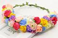 Korea Newest Multicolor cute rose Floral Head Wreath Flower Bride Girls Hair Accessories Wreath travel wedding