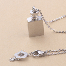 New Designer Brand Luxury Fashion Elegant Jewelry 316L Stainless Steel Austrian Crystal Perfume Bottle Necklace