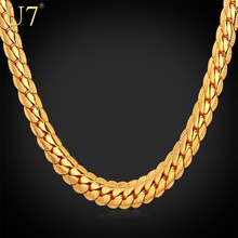 High Quality '18K' Stamp Figaro Chain Necklace For Men 18K Real Gold Plated 5MM 55CM 22″ Chunky Necklace Jewelry Wholesale S374