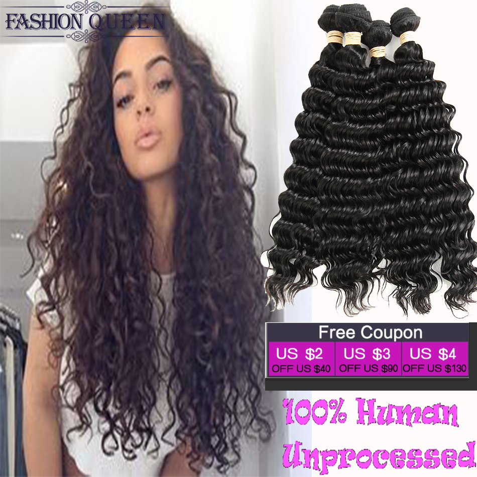 Malaysian Virgin Hair Deep Wave 3 Bundles Grade 7A Grace Vip Hair Products Human Hair Deep Wave Malaysian Deep Curly Virgin Hair(China (Mainland))