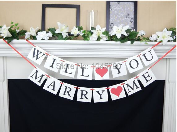 Buy free shipping 1 x will you marry me for Wedding decoration stores near me