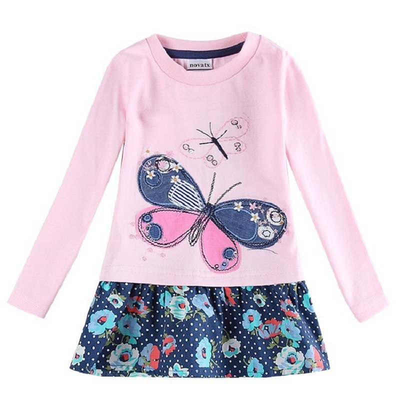 Embrioidery beautiful butterfly nova brand baby toddler