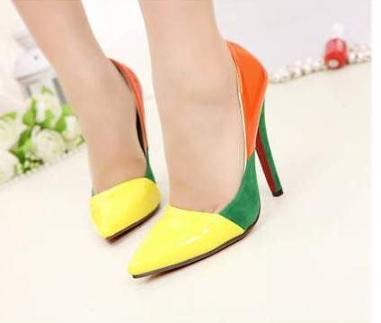 Hot Sale Pumps ! Free Shipping 2014 Stilettos High Heel Shoes Women Sandals Fashion Pumps Sexy Pointed Toe Red Bottom Shoes(China (Mainland))