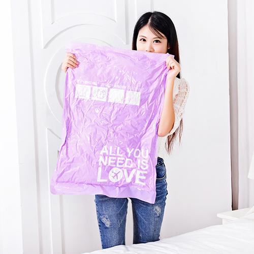2pcs/lot New Travel Vacuum Storage Bag Compressed Bag Vacuum Space Saving Compressed Bag 40*60cm 35*50cm(China (Mainland))