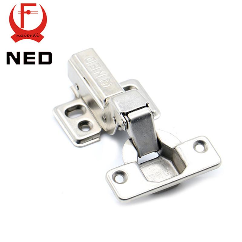 4PCS NED Hinge Rustless Iron Hydraulic Hinge Iron Core Damper Buffer Cabinet Cupboard Door Hinges Soft Close Furniture Hardware(China (Mainland))