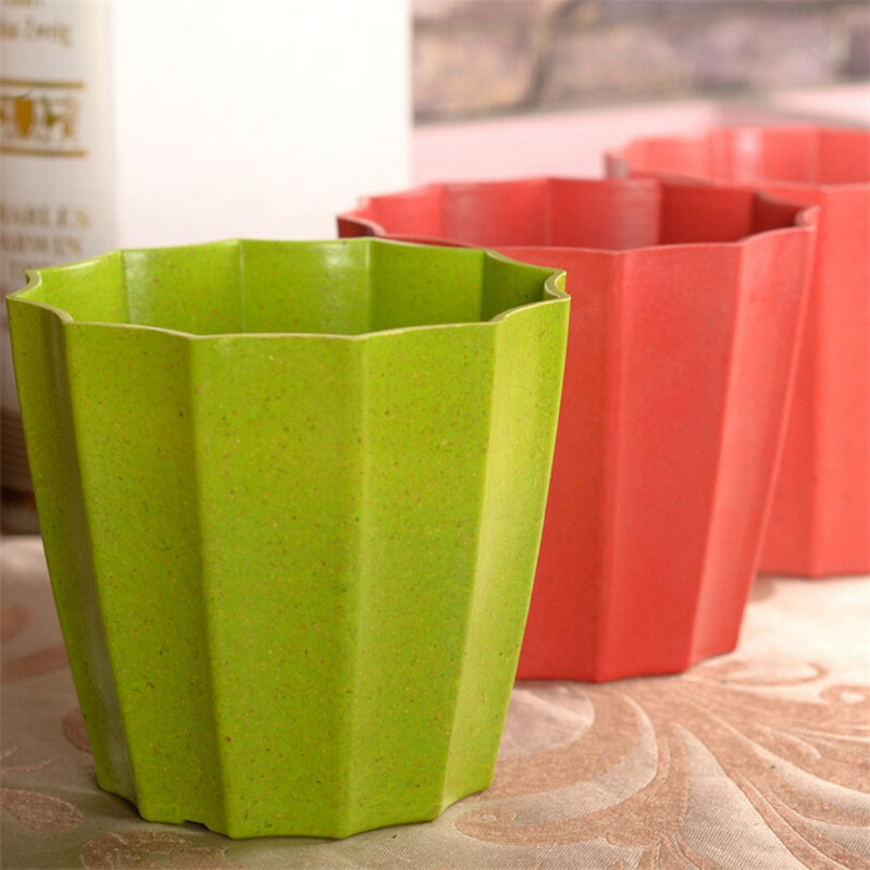 Modern Style Colorful Resin Mini Flowers Pots Plastic