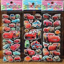 * 5/10pcs/lot red Pixar cars cartoon Bubble sticker School Rewards 3D Puffy foam Stickers Kids Gift Toys Christmas Scrapbook(China (Mainland))