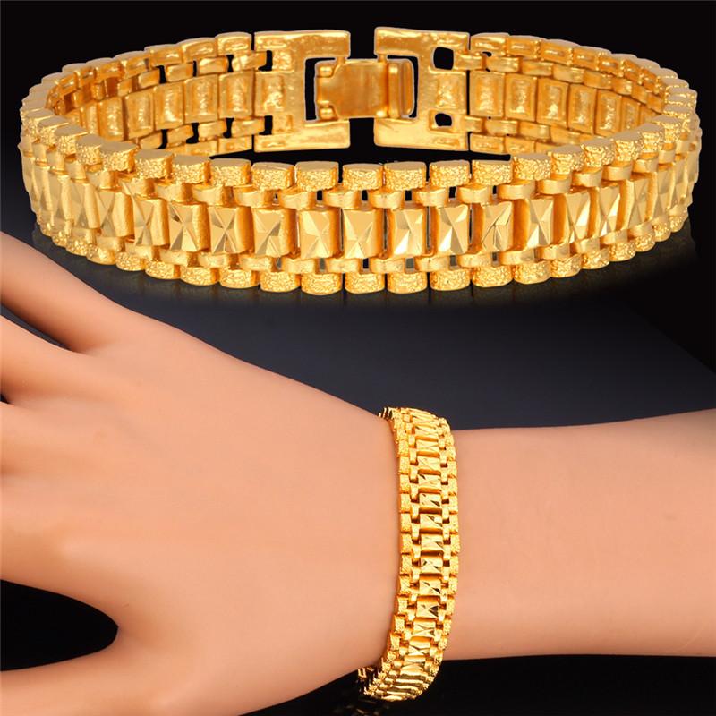 Aliexpress Com Buy Trendy New Gold Bracelet Men Jewelry