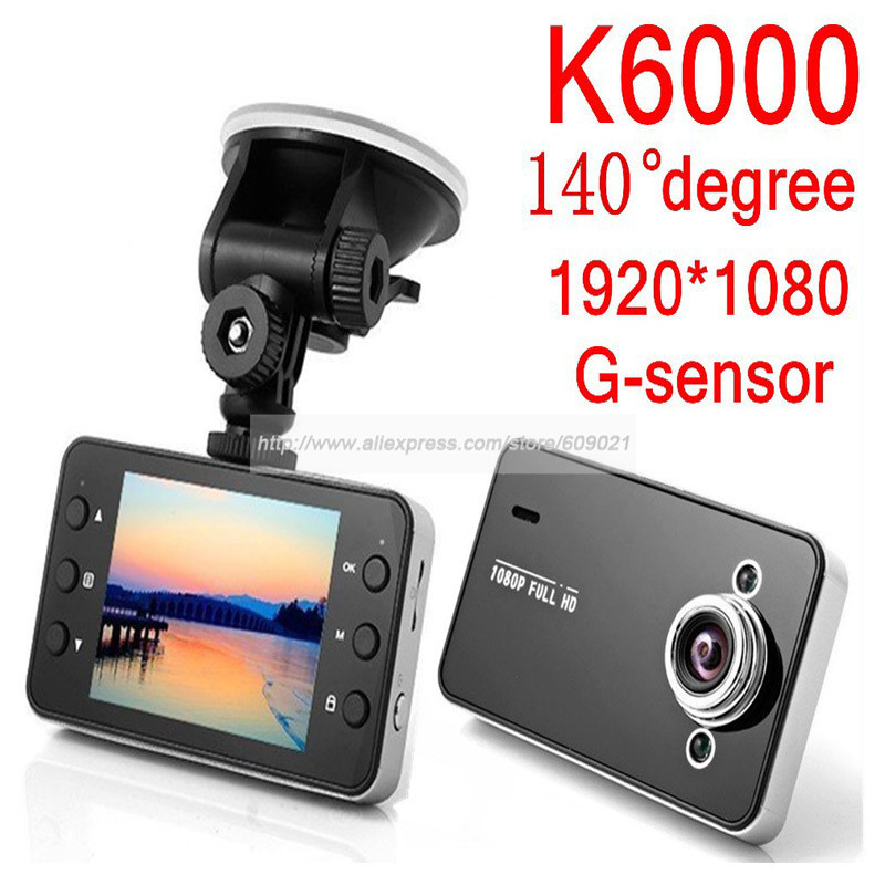 K6000 2.7 Inch Full HD 1080P Car Video Camera Recoder G-sensor HDMI Motion Detection DVR 1080P/720P Optional Dash Cam(China (Mainland))