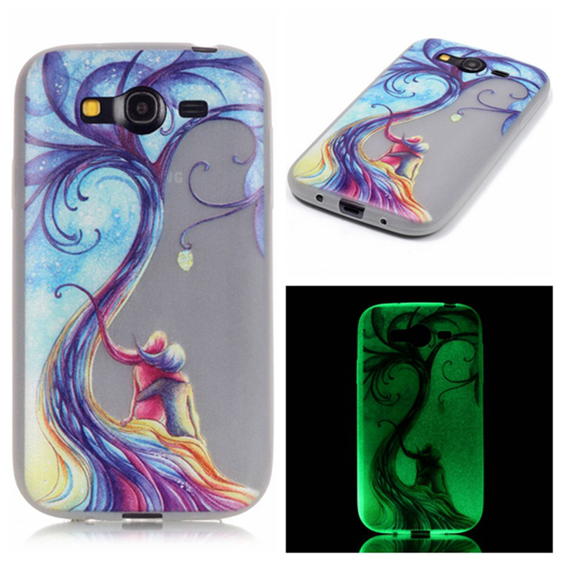 For Samsung Galaxy Grand Neo i9080 i9060 Luminous Embossed Case Ultra Thin Phone Case For Samsung Grand Neo Plus Silicon Cover
