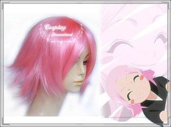 Wholesale Free Shipping Hot Selling Cheapest Halloween Bleach Cosplay Wig Kusajishi Yachiru Wig without headband