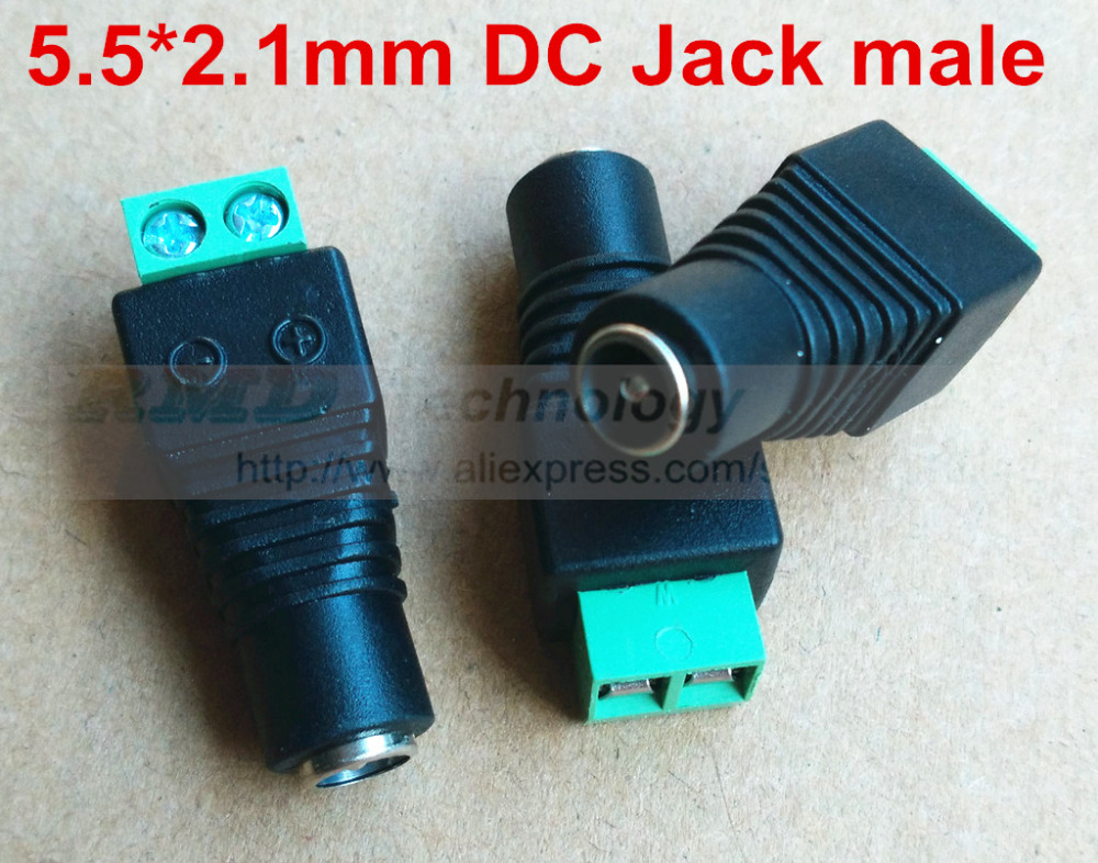 2.1x5.5mm DC Power male Plug Jack Connector 10pcs/lot Socket Adapter free shipping<br><br>Aliexpress