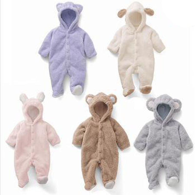 Newborn Baby Clothes Autumn Winter Baby Rompers One Pieces Baby Romper Infant Animal Model Boys Girls Long Sleeve Jumpsuits