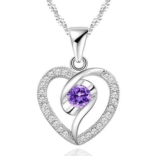 Fashion Design Austrian Crystal Heart Pendant Necklace(China (Mainland))