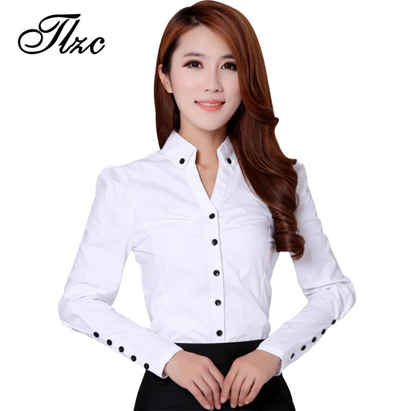 Tlzc 3 Colors Office Lady Formal Blouses 2015 New