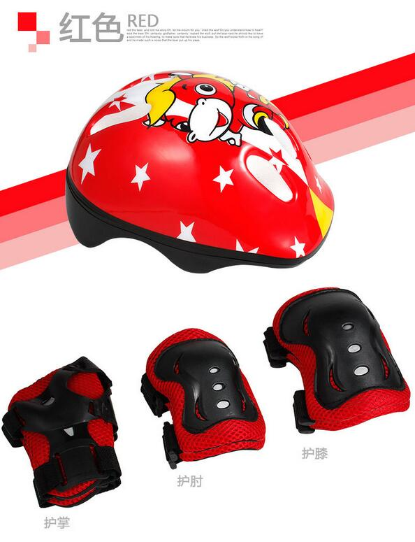 Male And Female Childrens Roller Skating Helmet Skating Roller Skates Protective Suits Skateboard Bicycle Knee Set CH006<br><br>Aliexpress