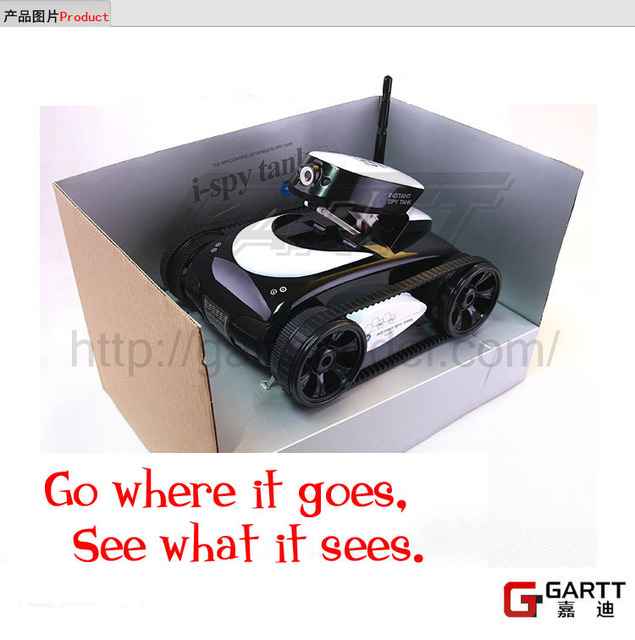 Freeshipping GARTT Ispy I-spy RC Tank Wifi Tank 2.4G 4CH with Camera Iphone Ipad Electric Remote Control a Great Gift