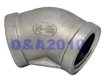 "New 45 Degree Elbow 1.25"" Female Fitting 304 Stainless Steel Pipe Biodiesel NPT NEW(China (Mainland))"