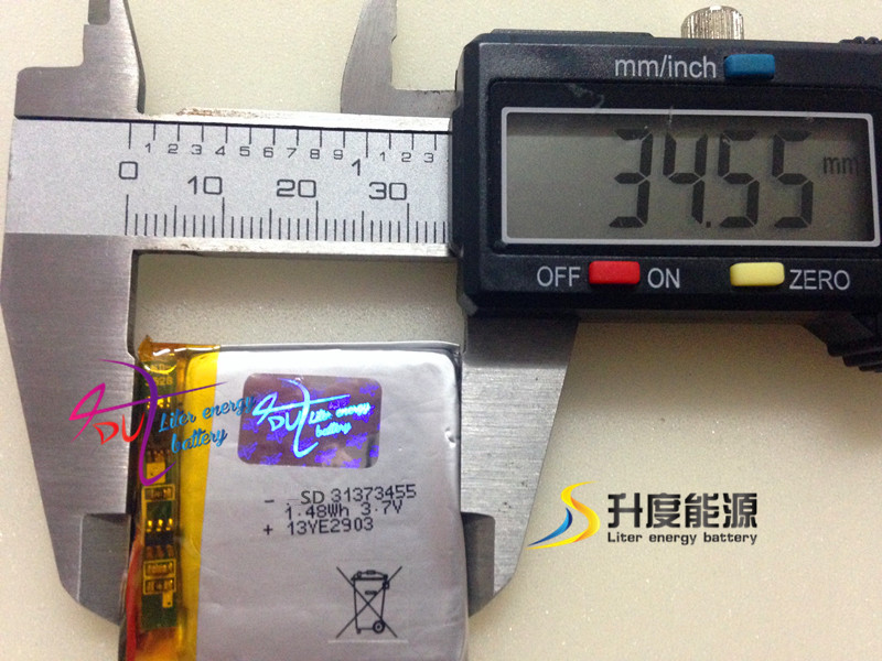ultra thin small SD313734 3.7v 310mah li-ion polymer rechargeabled lipo battery packs for philips MP4(China (Mainland))