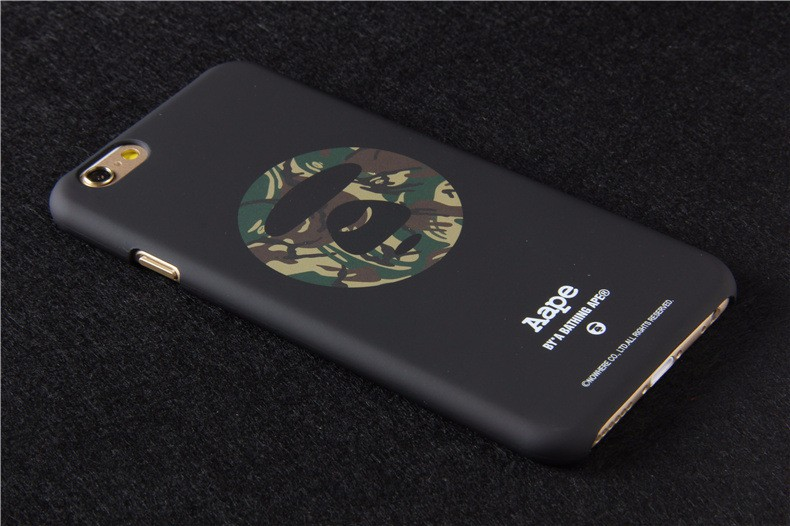 2016 New Cool 5S Bape Case For Iphone 5 5s 6 6s 6 Plus Pithecanthrope Camouflage Scrub Phone Shell Skin Protective Back Cover