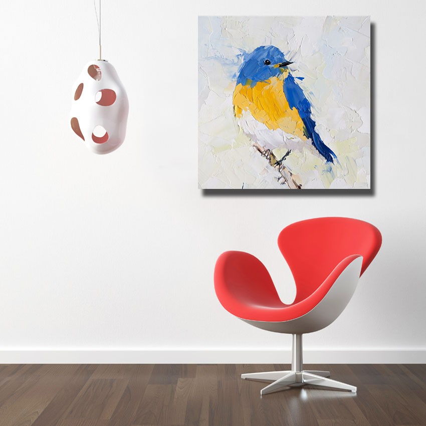 oil painting hand painted big size high quality beautiful bird oil painting home decor wall art cheap painting no framed