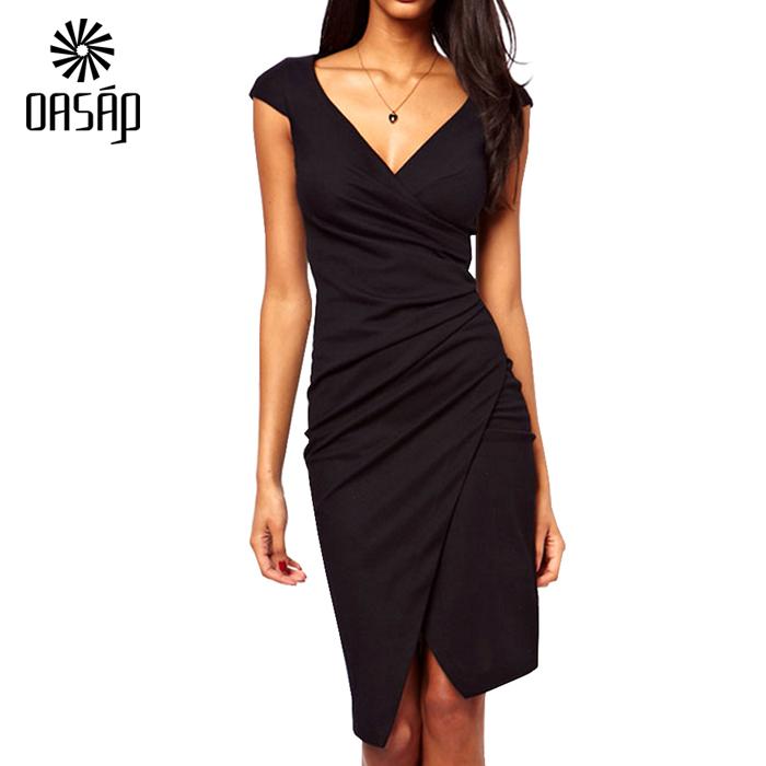 Oasap 2016 new arrival Black Color Sexy Club Dress Women ...
