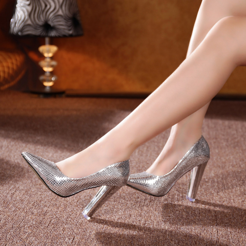 Silver Sparkly Heels Cheap