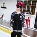 tracksuit for women 2016 autumn and winter women s plus size flower print jacket coat print