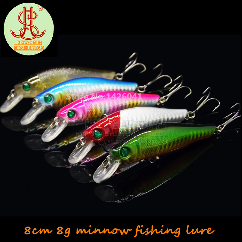 5pcs minnow fishing lures china fit for yo zuri rod 8cm/8g wobbler bass fishing bait pesca kosadaka peche tackle sabiki C131<br><br>Aliexpress
