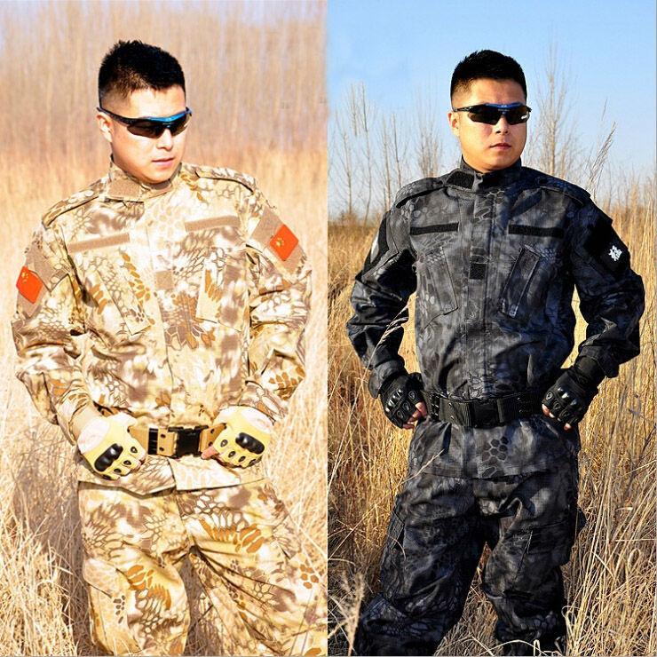 Combat Uniform Shirt+Pants Military Army Suit Thick Cotton Camouflage Suits Python Field Uniforms CS - UDARNIK Trade Co., Ltd. store