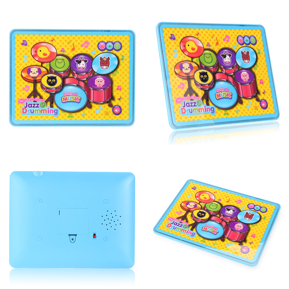 Children Festival Birthday Gift Music Tablet Drum Touch Screen Flashing Lights Kids Developmental Educational Music Toy