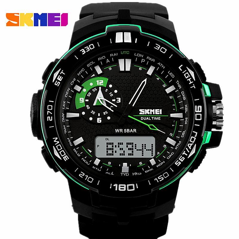 Watches Men Skmei Luxury brand Digital Watch quartz reloj hombre Army Military Sport wristwatch relogio masculino clock 1081