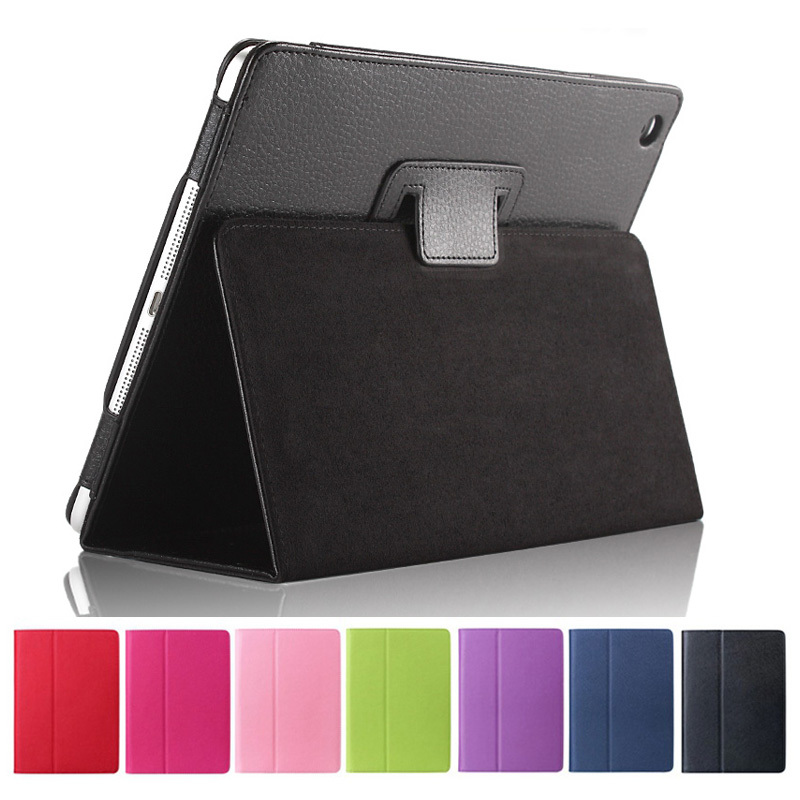 For ipad Air 5 Litchi Flip PU Leather Smart Magnetic Open Close Sleep Wake Up Case For apple new ipad5 Retina Stand Pouch Cover(China (Mainland))