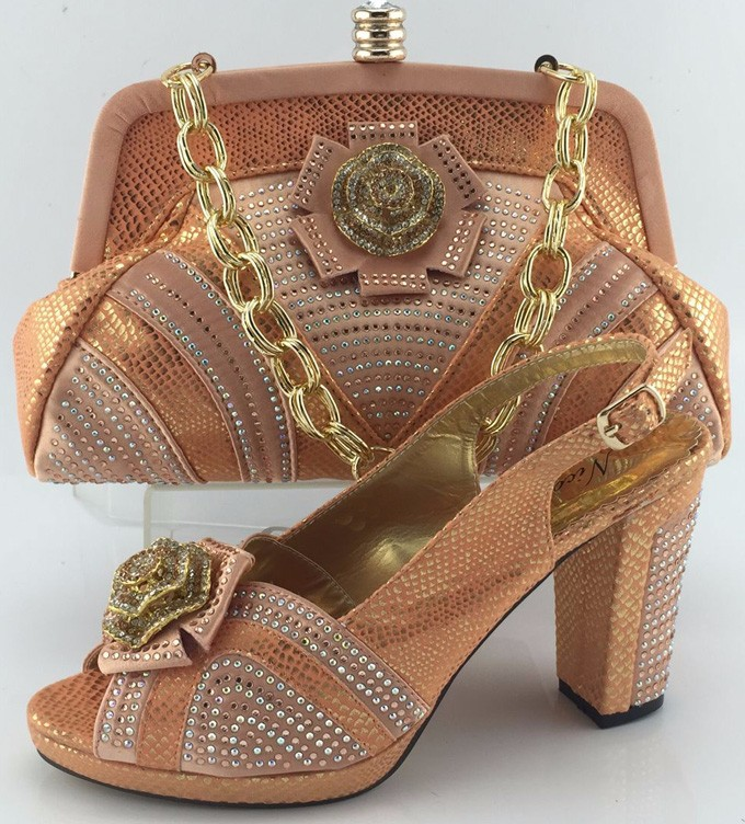 Italian Shoes With Matching Bags For Party High Quality African Shoes And Bags Set For Wedding Woman Shoes And Bag Set ME3331