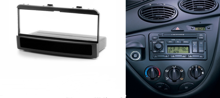 One din stereo panel for ford ford fiesta focus fascia radio refitting dash mounting